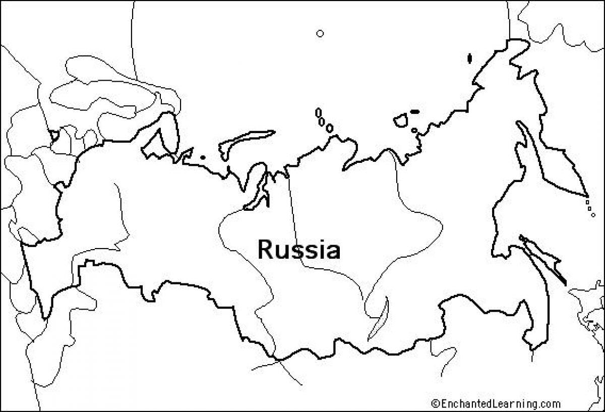 Mapa Konturowa Rosji Mapa Konturowa Rosji Europa Wschodnia Europa